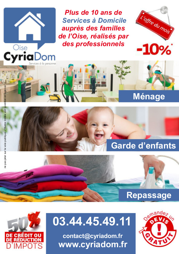 Offre exceptionnelle Cyriadom Oise septembre 2016