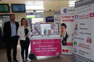 Cyriadom Services à la personne communique dans la gare de Beauvais Oise et propose ses services de Ménage, repassage et garde d'enfants